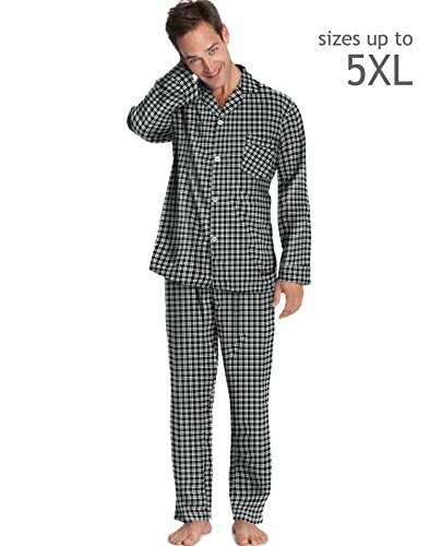 Hanes Men's Woven Pajamas Black White Plaid L Hanes Men's Woven Pajamas (Hanes Pajamas White)
