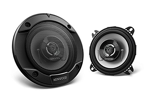 (Kenwood KFC-1066S 220 Watt 4-Inch 2-Way Coaxial Flush Mount Speakers - Pair )