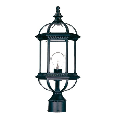 Acclaim 5277BK Dover Collection 1-Light Post Mount Outdoor Light Fixture, Matte (Commercial Lamp Post)