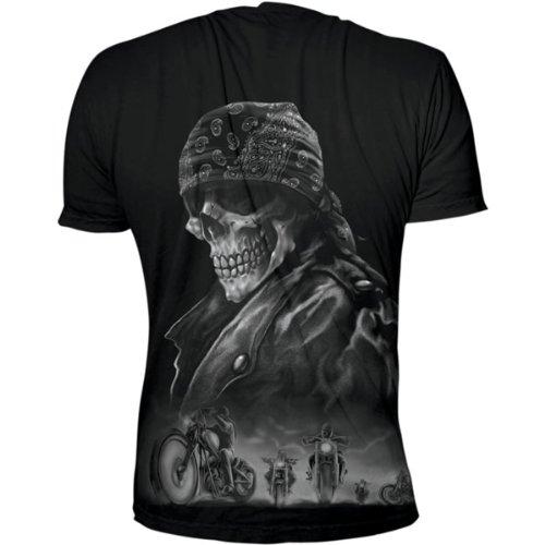Lethal Threat (LT20156L) Men's Biker from Hell T-Shirt (Black, Large)