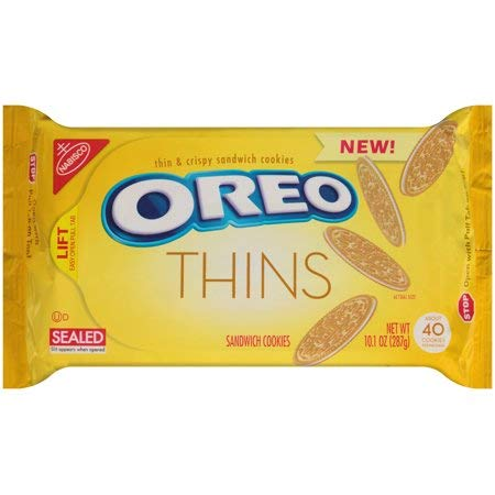 Oreo Golden Thins With Lemon Cream, 10.1 Ounce ( Pack Of 2 ) -