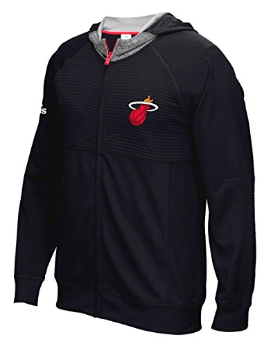 adidas Miami Heat 2016 NBA Men's On-Court Pre-Game Full Zip Hooded Jacket