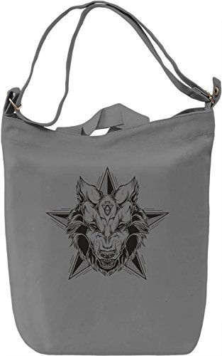 Angry wolf Borsa Giornaliera Canvas Canvas Day Bag| 100% Premium Cotton Canvas| DTG Printing|