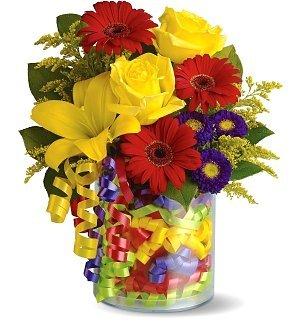 Birthday Ribbon Bouquet (Gifttree Balloon)