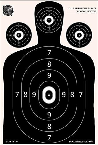 Dynamic Shooters - 50 Pack 17X25-inch Made in USA Large Paper Silhouette Range Shooting Targets - Firearm, Rifle, Gun, Pistol, BB Guns, Airsoft, Pellet Gun, Air Rifle