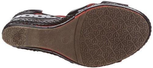 Giudecca Manka JBS1308 - Zapatos de pulsera de cuero para mujer Negro (Schwarz (Black))