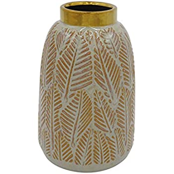 Stone & Beam Mid-Century Feather Vase, 8.66