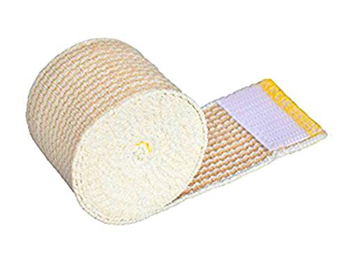 GT Cotton Elastic Bandage Wrap (2 Wide, 1 Pack) with Hook and Loop Fasteners at Both Ends | Latex Free Hypoallergenic Compression Roll for Ankle Knee Wrist Sprains, Foot Elbow Shoulder Head Injuries