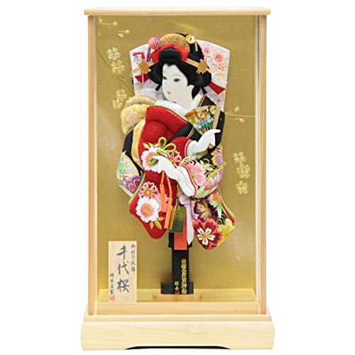 【羽子板】ケース入り 極上桜の舞(TO2104) 15号 高さ60cm [181ha1056]千代桜ケース   B07584ZFKQ