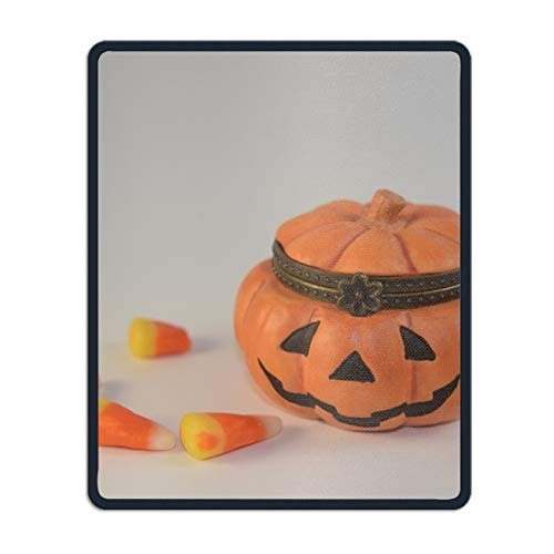 Pumpkin Candy Mouse Mat,Personalized Non-Slip Mousepad for Office Work Travel ()