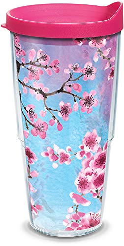 - Tervis 1256046 Colorful Blossoms Insulated Tumbler with Wrap Lid, 24 oz, Clear