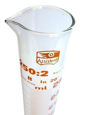 Hecht\' Messzylinder 250 ml - Laborglas: Amazon.de: Küche & Haushalt
