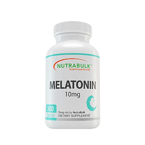 - NutraBulk Melatonin 10mg - 300 Tablets - Quick Release Natural Nighttime Sleep Aid