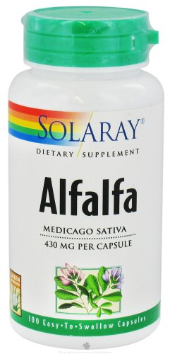 Solaray luzerne, 430 mg, 100 comte