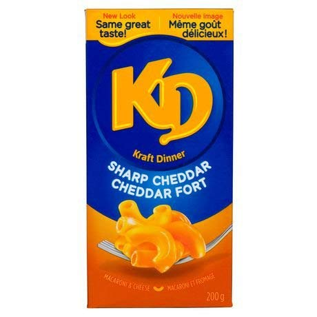 Kraft Dinner Sharp Cheddar 200g from Canada (Kraft Dinner From Canada)