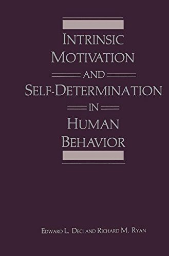 Intrinsic Motivation and Self Determination in Human Behavior Perspectives in Social Psychology