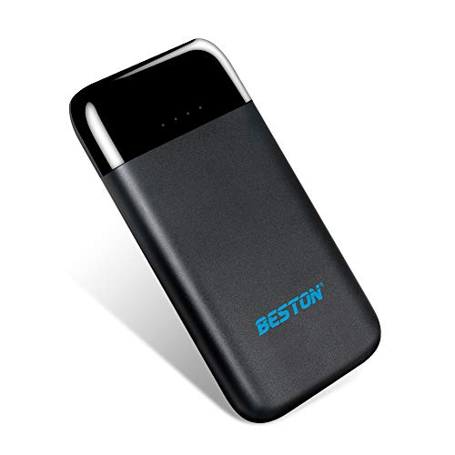BESTON 8000 mAh Cellphone Portable Charger, 8000mAh External Battery Pack, Ultra Compact Portable Power Bank for iPhone, iPad, Galaxy, Android Phones, MP3 MP4 Player (Black)