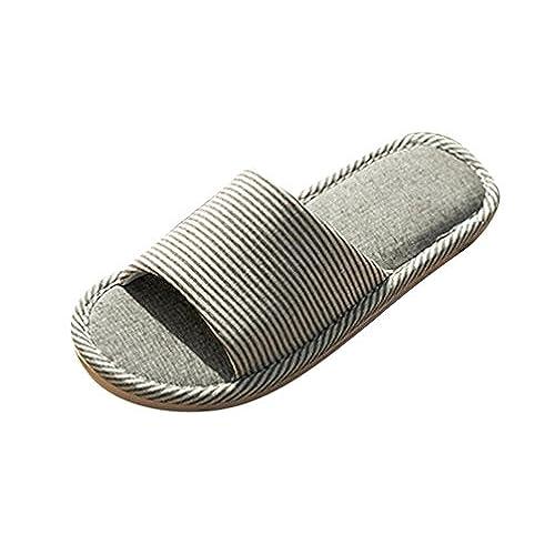 Hommes et Femmes Chaussures dhiver Chaud Tongs Chaussures Plat Anti-Derapant Pantoufles Mode Claquettes Plates
