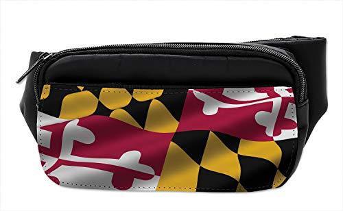 - Lunarable American Bumbag, Maryland Flag US State, Fanny Pack Hip Waist Bag