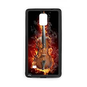 burning violin Samsung Galaxy Note 4 Cell Phone Case Black Present pp001-9457860