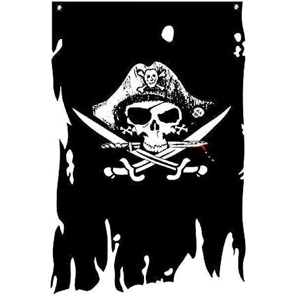 """12/"""" x 18/"""" Deadman Chest Pirate Flag Tricorner Ship Banner  Jolly Roger Dead27"""