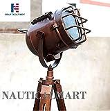 NauticalMart Industrial Nautical Studio Searchlight Tripod Studio Floor Lamp