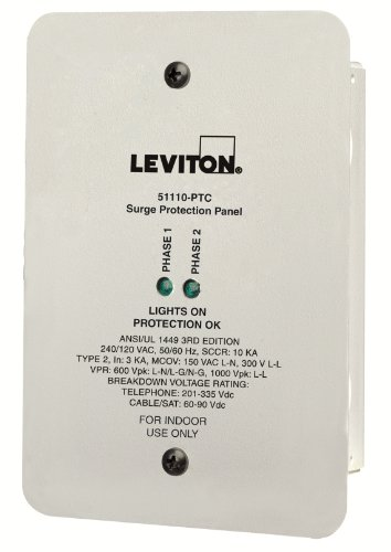 Leviton 51110-PTC 120/240V Residential Grade Panel Protector