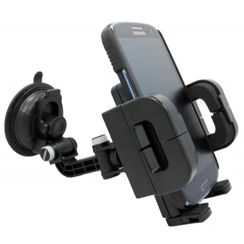 - Universal Multi-angle Rotating Car Mount Windshield Window Suction Phone Holder for Verizon Samsung Omnia 2 i920 - Samsung Illusion - Samsung Stratosphere - Samsung Rogue U960 - ZTE Adamant
