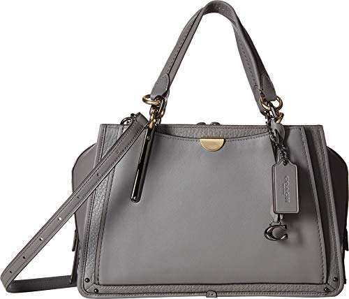 COACH Women's Dreamer in Mixed Leather Dk/Heather Grey One Size -