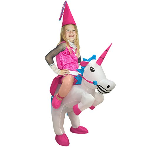 Kids Unicorn Ride On Inflatable Costume Blow Up Fancy Dress Outfits Boys & Girls -