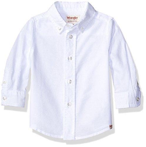Wrangler Classic Long Sleeve Shirt (White) - 3