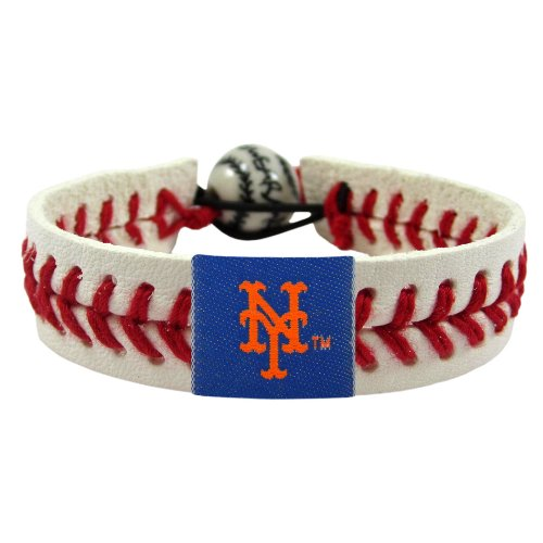 Gamewear MLB Leather Wristband - New York Mets Classic Band