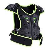 MOTOWOLF Kids Dirt Bike Body Chest Spine Protector Armor Vest Protective Gear for Dirtbike Bike Motocross Skiing Snowboarding (L)