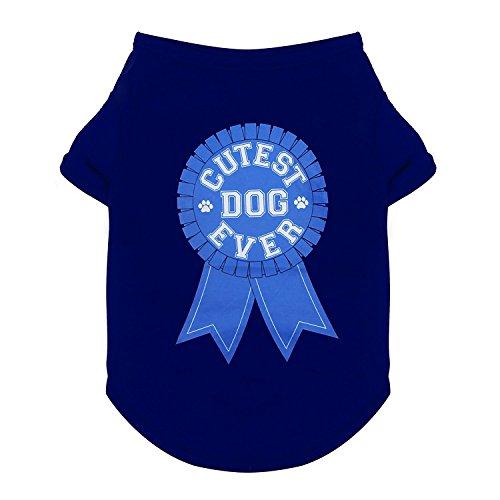 Cutest Dog Costume Ever (Purrfect Paws Dog Cotton Cutest Dog Ever Blue Ribbon Tshirt (Medium))