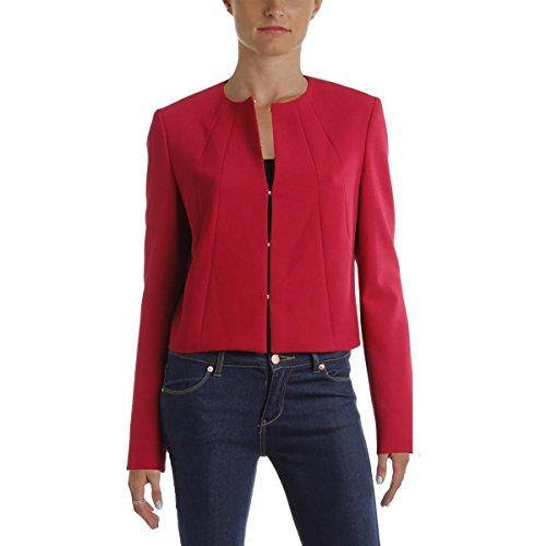 Hugo Boss BOSS Womens Jenisa Cropped Collarless Blazer Red 2