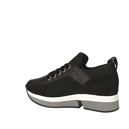 Sneaker Fornarina 2017 Nero Collezione Con Zeppa Inverno Glitter Autunno Pi18sl1080v000 Nuova E 77Ow5r