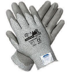 Memphis 9676XXL 2X UltraTech 13 Gauge Cut Resistant Gray Polyurethane Dipped Palm And Finger Coated Work Gloves With Dyneema Liner And Knit Wrist (1/PR)