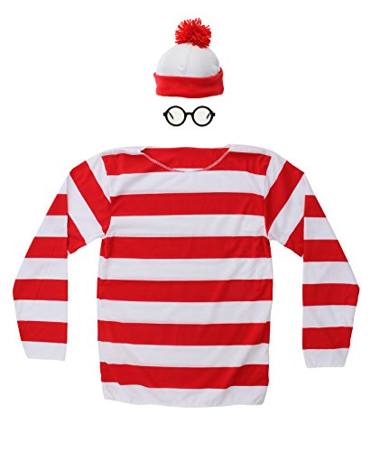[Elope Where's Waldo Adult Kit] (Cartoon Character Costumes Male)