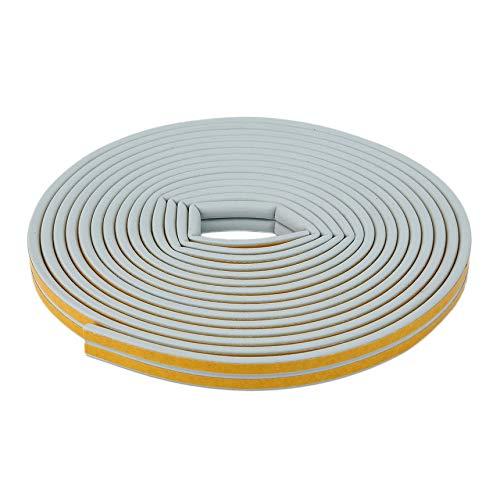 Revemx Color Blanco 12 m Puertas Adhesivas Ventanas de Espuma Sellado Tira Insonorización Protección contra colisiones...
