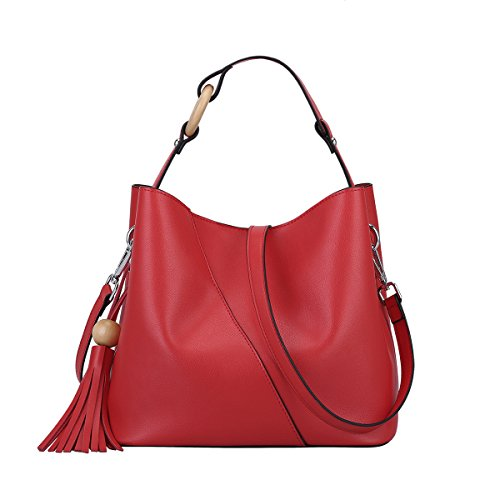 Red Leather Handbags - 9