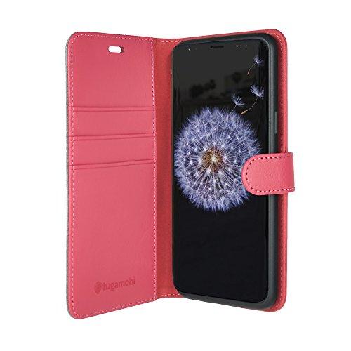 tugamobi Samsung Galaxy S9+ (S9 Plus) Leather Flip/Wallet [ID/Cash Slot] Case (Pink)