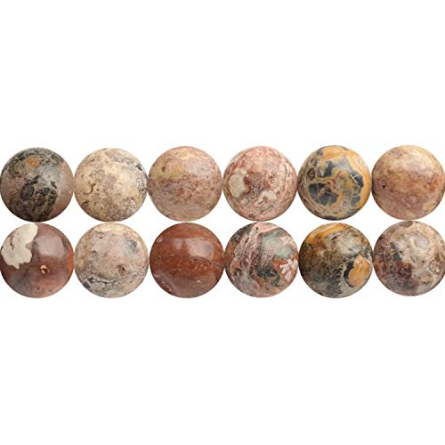 6mm Natural Leopard Skin Jasper Semi Precious Stone Beads for Jewelry Making Sold by One Strand APX 60 Pcs Hole Size 1mm ()