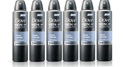 Set of 6 Dove Men + Care Cool Fresh Spray Deodorant & Anti-Perspirant 150ml / 5.07 Oz