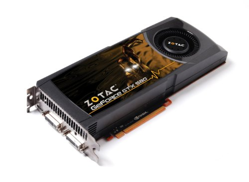 ZOTAC GeForce GTX 580 1536MB GDDR5 PCI Express 2.0 Dual DVI/mini HDMI SLI Ready Graphics Card, ZT-50101-10P