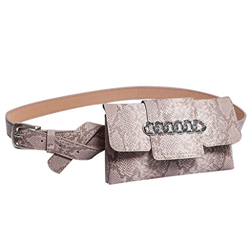 Fendi Coin Purse - Snakeskin Pattern Fanny Pack Leather Bum Waist Bag Chest Shoulder Bags Belt Bag Full Grain Cross Body Purse Sport Travel Cute Bags Unisex