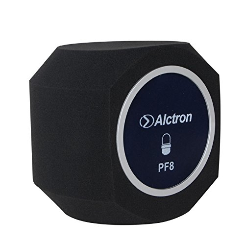 Alctron Professional Simple Studio Mic Microphone Screen; Acoustic Filter; Desktop Recording Wind Screen; Vocal Studio Sound Recording Booth Reflection Filter Foam (PF8)