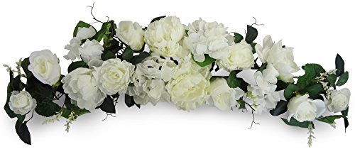 32'' Cream Peony/Rose/Hydragea Swag by V-Max Floral Decor