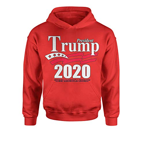 Youth Hood President Trump 2020 Keep America Great Large Red