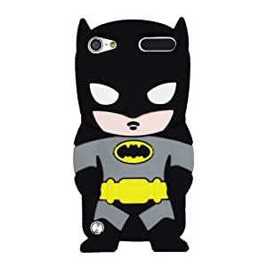 Batman Negro American Superhero La funda de silicona suave cubierta protectora para Apple iPod Touch iTouch 5 5g 5th Generation with CableCenter Cable Tie