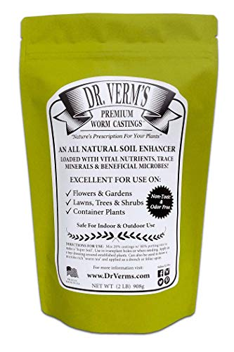 - Dr. Verm's Premium Worm Castings - Organic Soil Builder and Fertilizer (2 LB)
